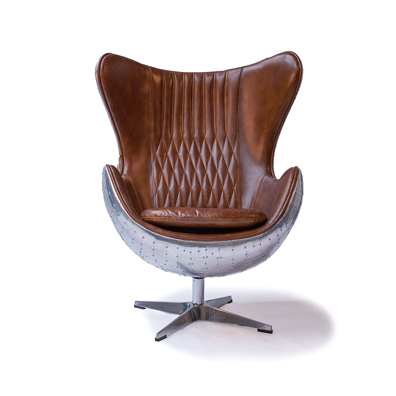 Aviator Spitfire Vintage Leather Wingback Chair Amazon