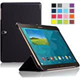 IVSO Slim Smart Cover Case for Samsung Galaxy Tab S 10.5 Tablet with Auto Sleep/Wake Function (Black)
