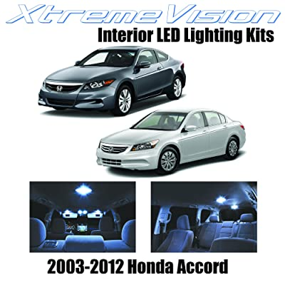 XtremeVision Interior LED for Honda Accord 2003-2012 (12 Pieces) Cool White Interior LED Kit + Installation Tool: Automotive