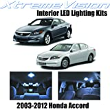 XtremeVision Honda Accord 2003-2012 (12 Pieces) Cool White Premium Interior LED Kit Package + Installation Tool
