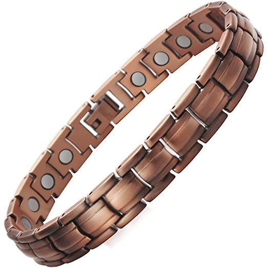 VITEROU Womens Magnetic Pure Copper Therapy Bracelet for Arthritis Pain Relief,3500 Gauss