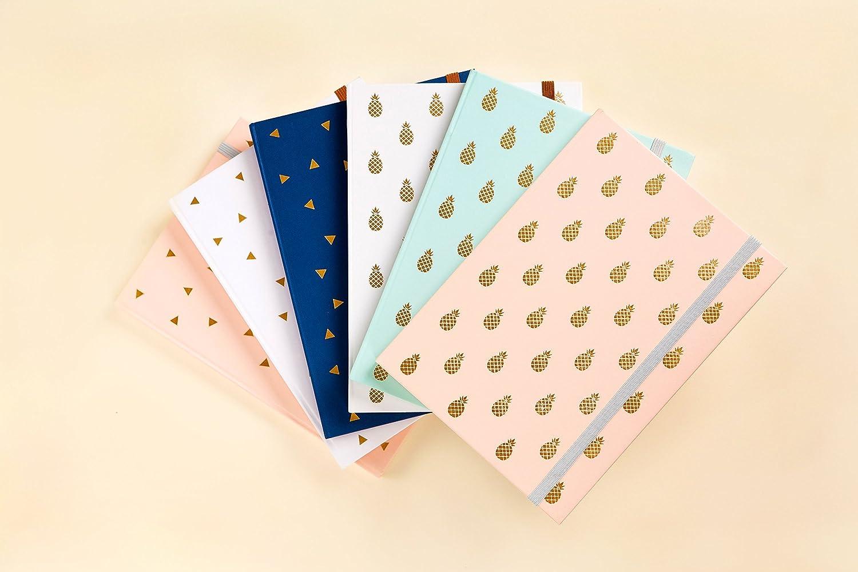 Journal in wei/ßer Farbe Dreieck-Goldfolien Noizbuch /• Schreibjournal /• Tagebuch /• Brautjungfer Geschenk /• Reiseplaner /• Pflichtenheft /• Tagesplaner /• 2019 Planer kann als Tagebuch oder Planer verwendet werden