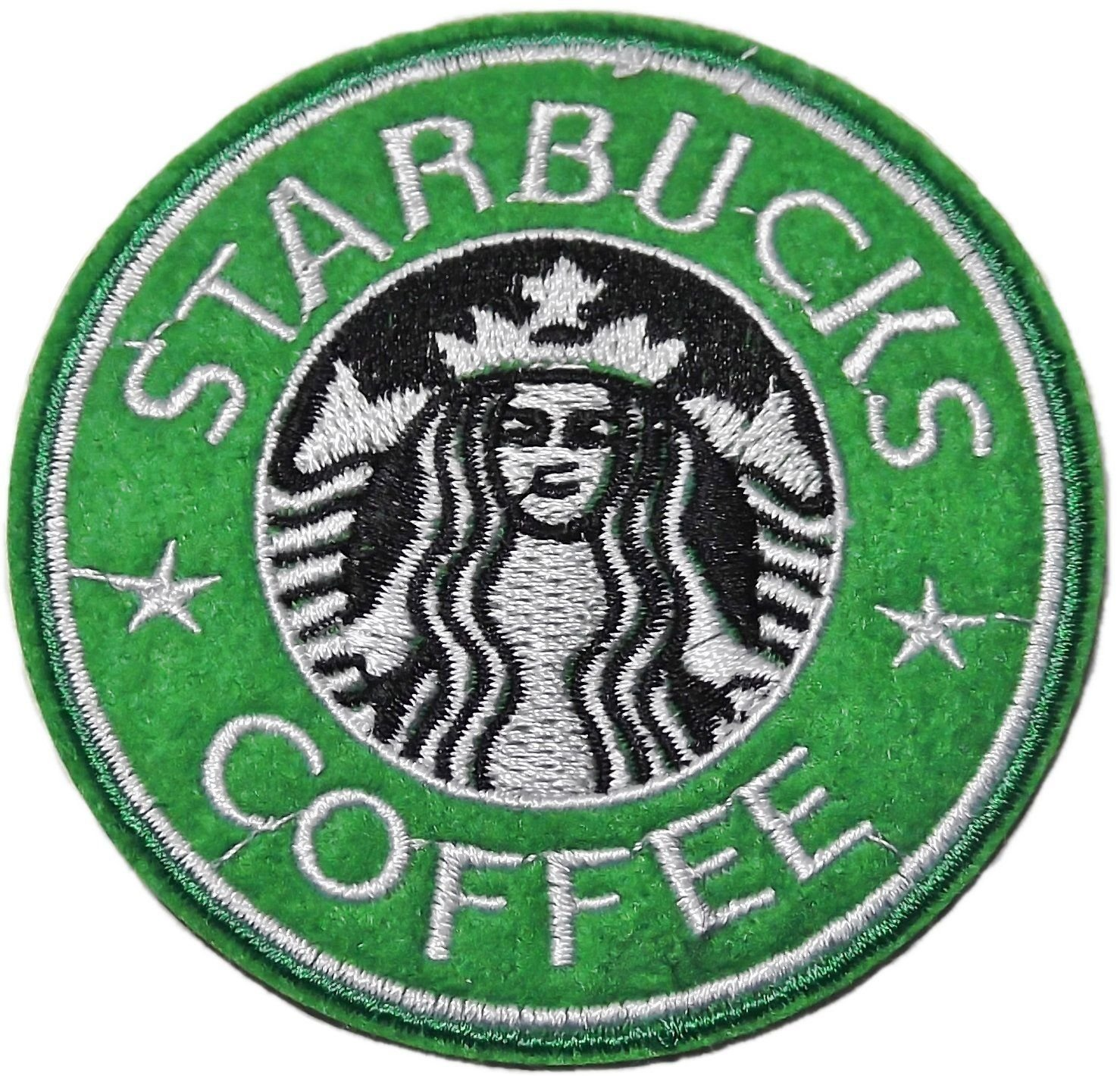 3 starbucks logo Embroidered Iron On/Sew On Patch Braides