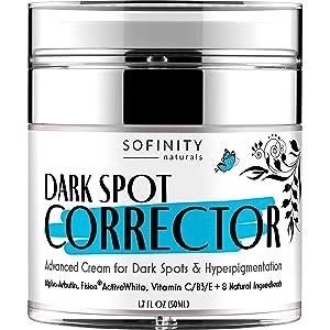 Dark Spot Remover for Face - Dark Spot Corrector for Face Body - Hyperpigmentation Treatment – Crema Para las Manchas de la Cara - w/ Fision ActiveWhite, Arbutin, Niacinamide, Vitamin C – by Sofinity