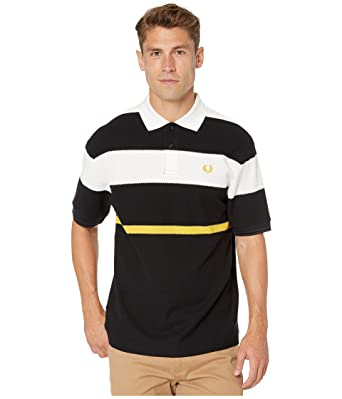 Fred Perry - Polo de Rayas para Hombre - Negro - X-Small: Amazon ...