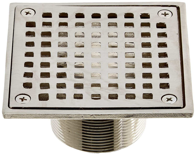 Metallic Jones Stephens Corporation Jones Stephens D6094BN 4 Brushed Nickel Square Spud Strainer
