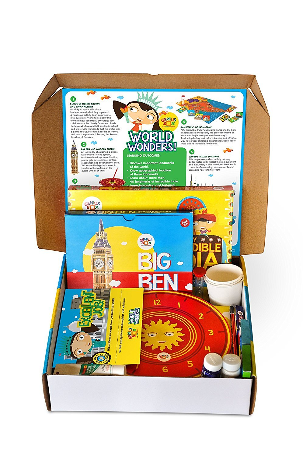 buy genius box learning toys for children world wonders activity kit online at low prices in india amazon in