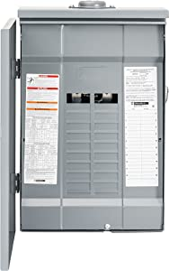 Square D by Schneider Electric HOM2040L125PRB Homeline 125 Amp 20-Space 40-Circuit Outdoor Main Lugs Load Center (Plug-on Neutral Ready),