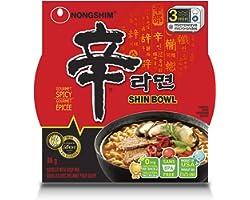 Nongshim NS26244 Shin Bowl Noodle Soup, 86 g (Pack of 12)