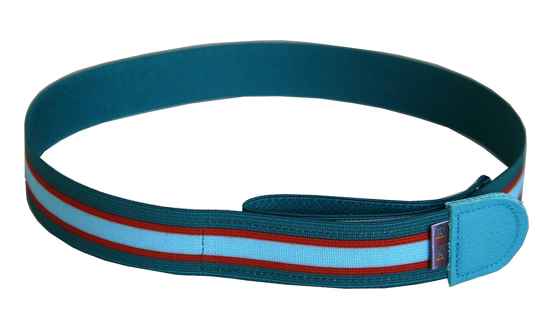 Ed&Kids Kindergürtel ohne Schnalle Streifen petrol Gürtel Jungen elastisch größenverstellbar Made in Germany