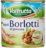 Valfrutta - Fagioli Borlotti Da Fresco - 4 confezioni da 3 pezzi da 400 g [12 pezzi, 4800 g]