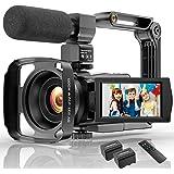 Video Camera Camcorder 4K 48MP Ultra HD YouTube Vlogging Camera IR Night Vision WiFi Digital Camera Recorder 16X Digital Zoom