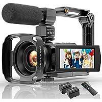 Video Camera Camcorder 4K 48MP Ultra HD YouTube Vlogging Camera IR Night Vision WiFi Digital Camera Recorder 16X Digital…