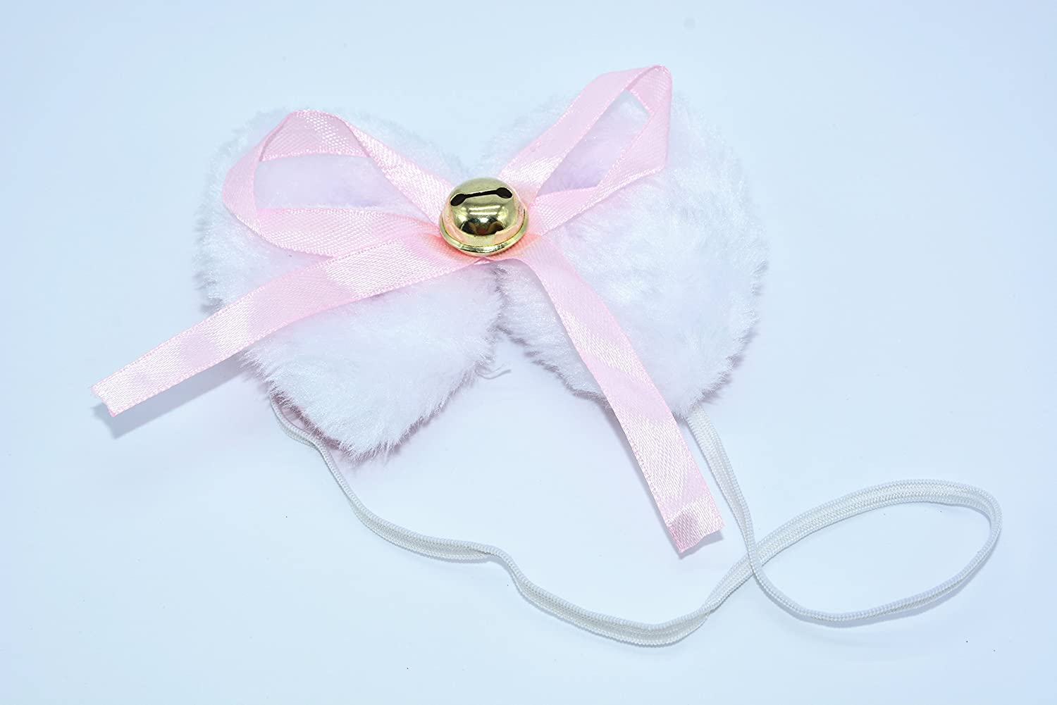 BOMPOW Cat Ear Headband Cosplay Cat Tail Bell Hairclip with Paw Bow Tie Costume Party Decoration Set 5 Pack White Cat Costumes