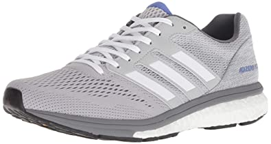 0aebce0783d426 adidas Women s Adizero Boston 7 Running Shoe White Grey