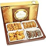 Ghasitaram Gifts Holi Sweets-Ghasitaram's Big Box of Gujiya, Chocolate Gujiya, Mini Namkeen Gujiyas and Farsan Samosas