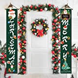 Christmas Porch Decorations for Home Merry Christmas Banner,Christmas Door Decorations Porch Welcome Sign for Front Door…