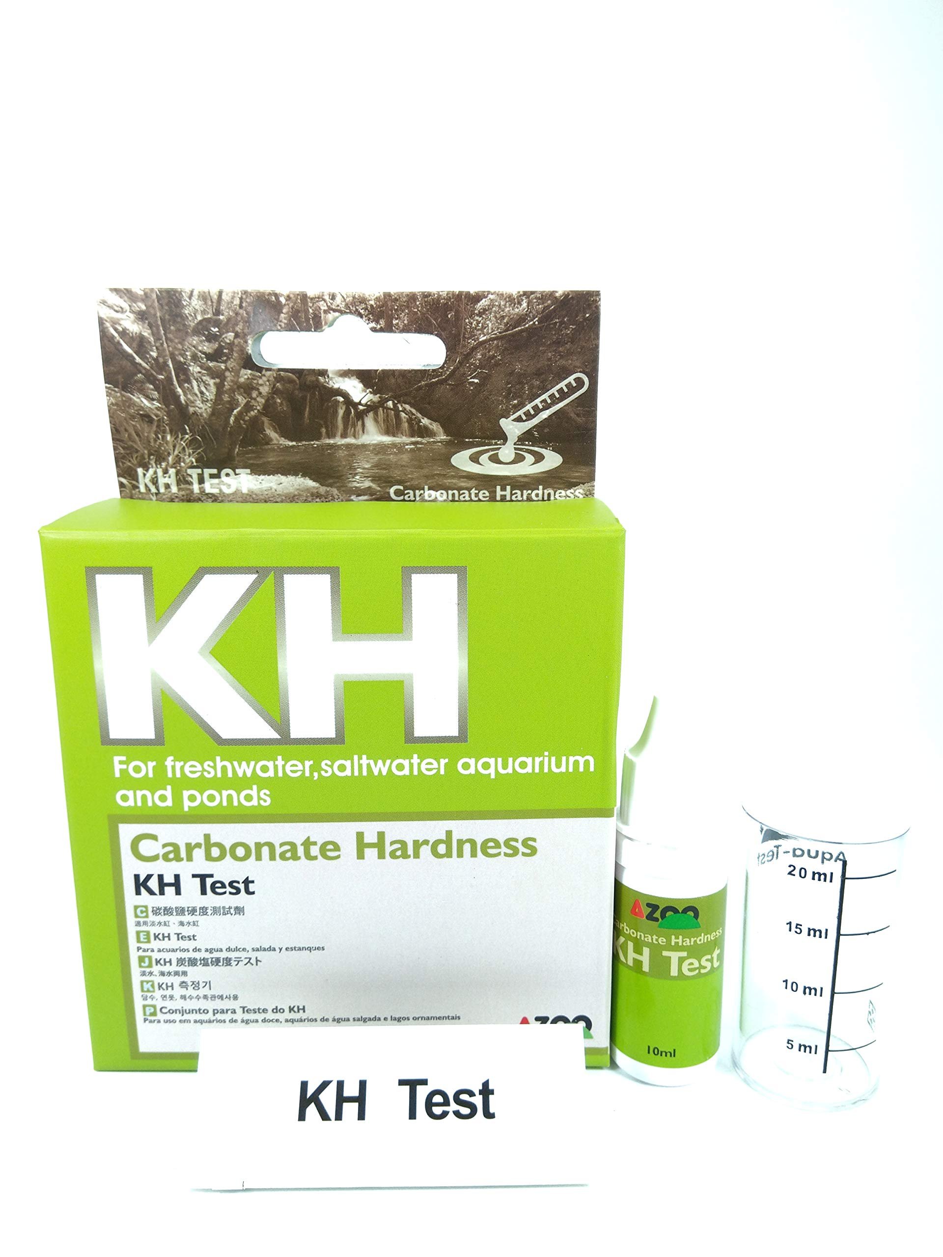 Azoo KH Test Carbonate Hardness for Freshwater, Saltwater Aquarium and Ponds by Azoo