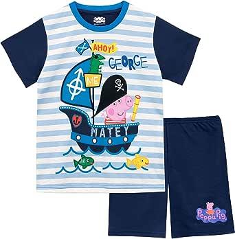 Peppa Pig Pijamas de Manga Corta para niños George Pig