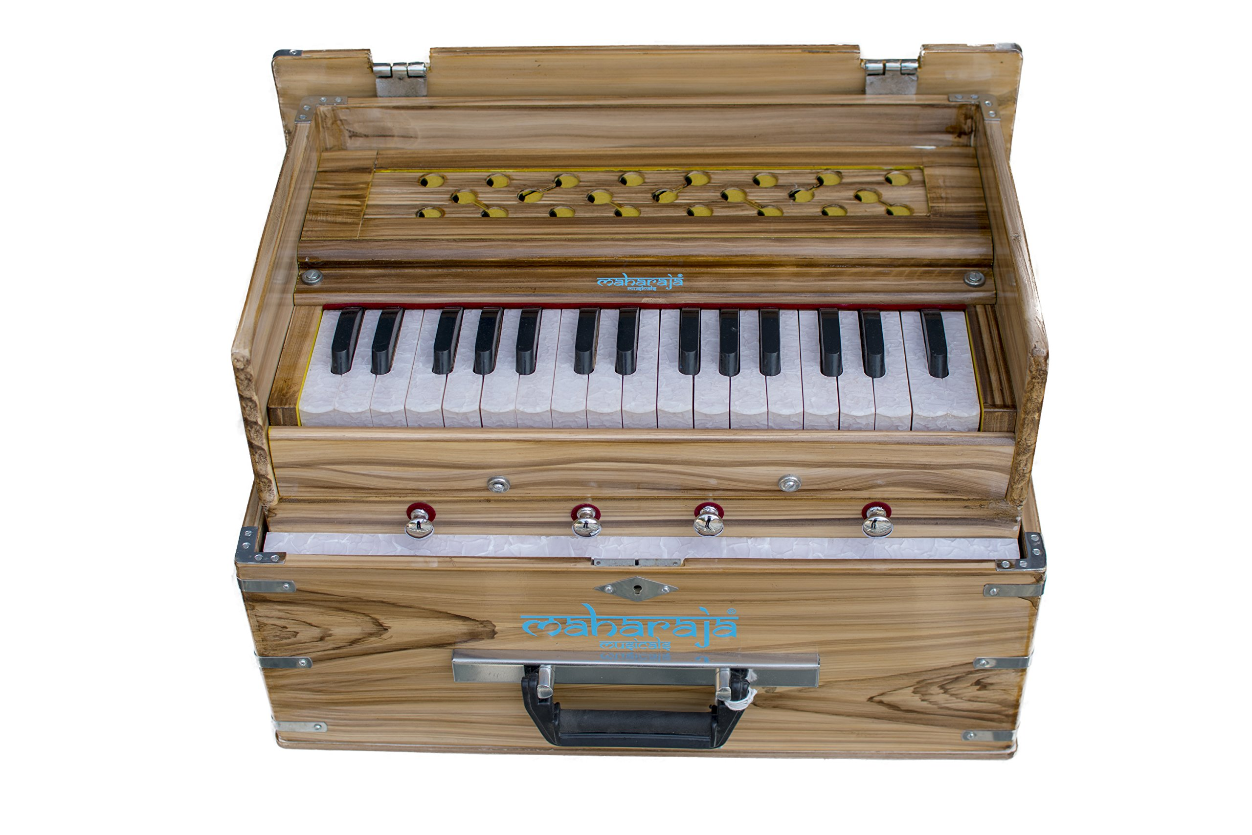 Maharaja Musicals, Kirtan Harmonium, Portable In-Flight Edition, Natural Color, Model KH2