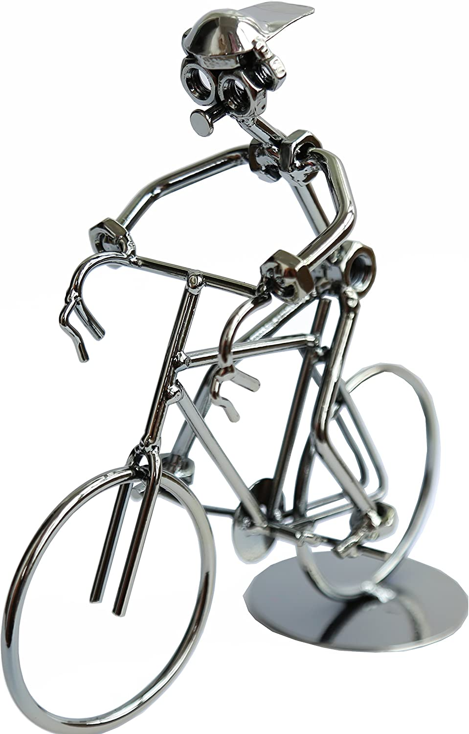 Berry President Creative Hand Soldering Home Decor Cast Iron Wires and Screws Statue/Figurine Bicycle Rider/Bicycle Bike Race Handicraft Works (8
