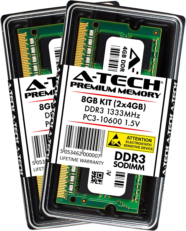 A-Tech 4GB DDR3 1600MHz PC3-12800 204-pin SODIMM Laptop Notebook Computer Memory RAM Module