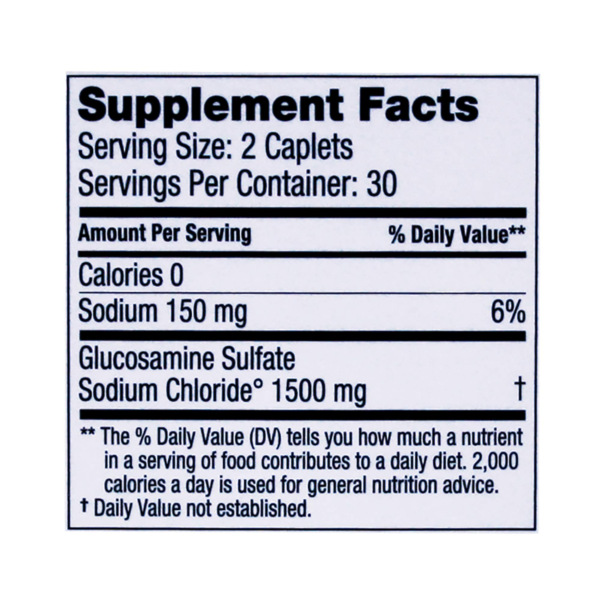 Dona Crystalline Glucosamine Sulfate, 750 Mg, 60 Count by DONA (Image #2)