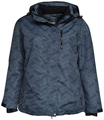 e76af5ef526 Pulse Women s Plus Size Extended Insulated Bevel Snow Ski Jacket (1X (16 18
