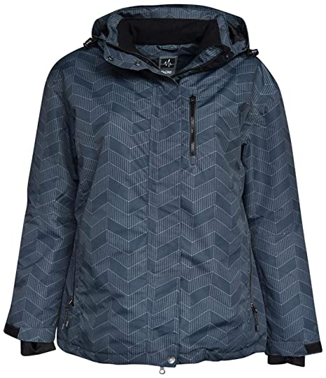 75e2610f9 Pulse Women's Plus Size Extended Insulated Bevel Snow Ski Jacket