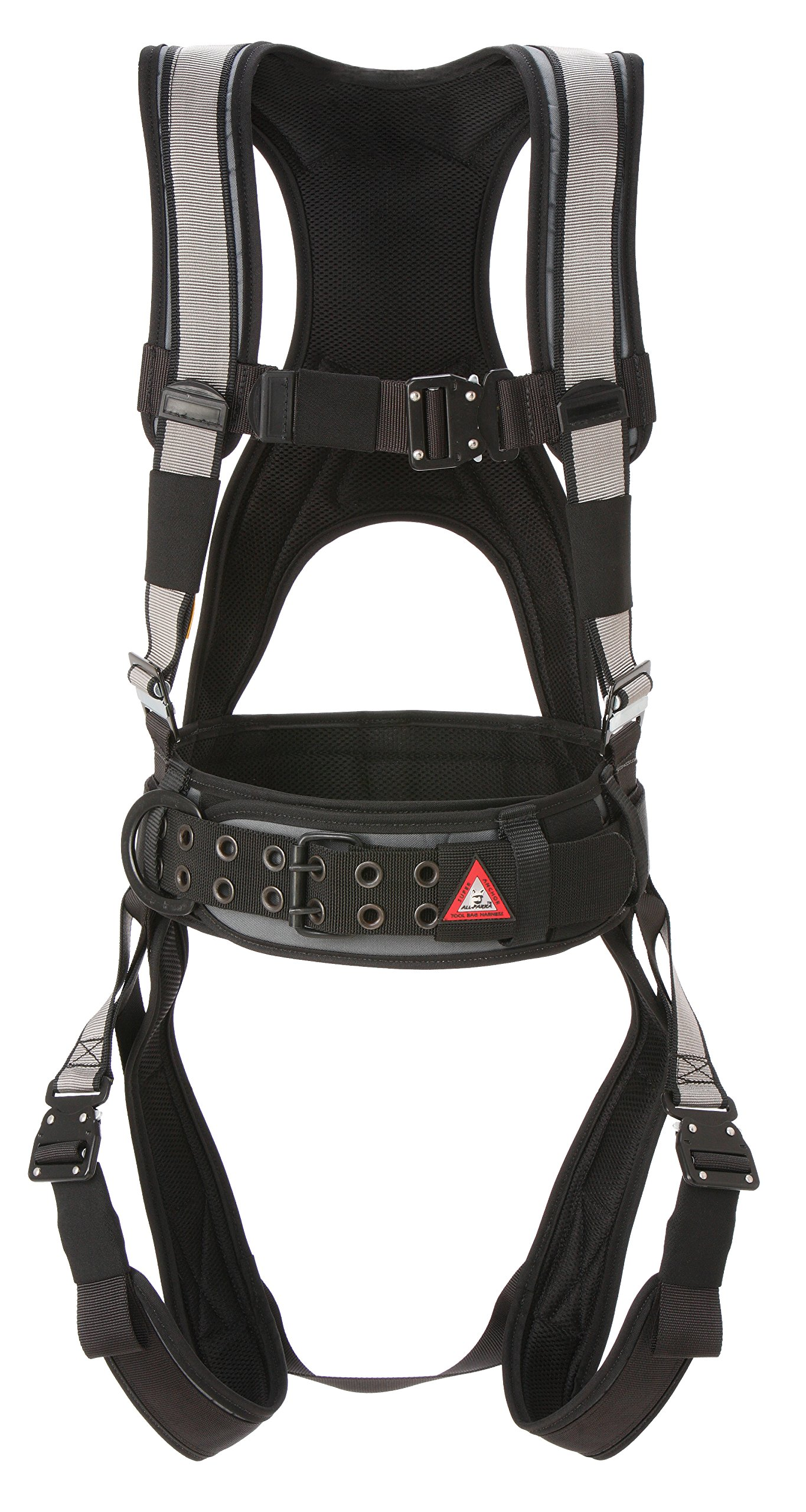 Super Anchor Safety 6101-SM Deluxe Full Body Harness, Medium, Silver