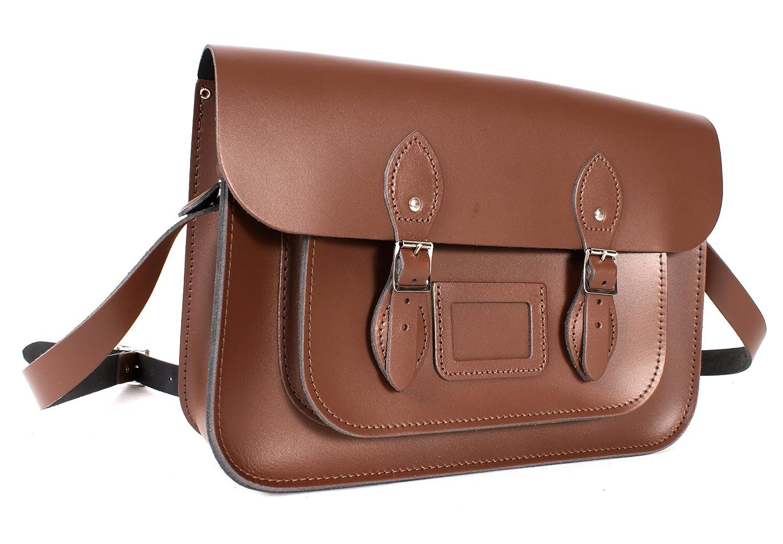 Oxbridge Satchels - Bolso estilo cartera de Piel para mujer marrón: Amazon.es: Zapatos y complementos