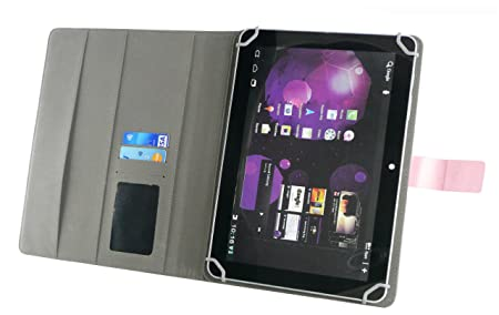Emartbuy® bq Edison 3 10.1 Inch Tablet Universal Series Baby Rosa Ángulo Múltiples Executive Folio Funda Carcasa Wallet Case Cover Con Tarjeta Crédito ...