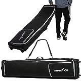 Athletico Rolling Double Ski Bag - Padded Ski Bag