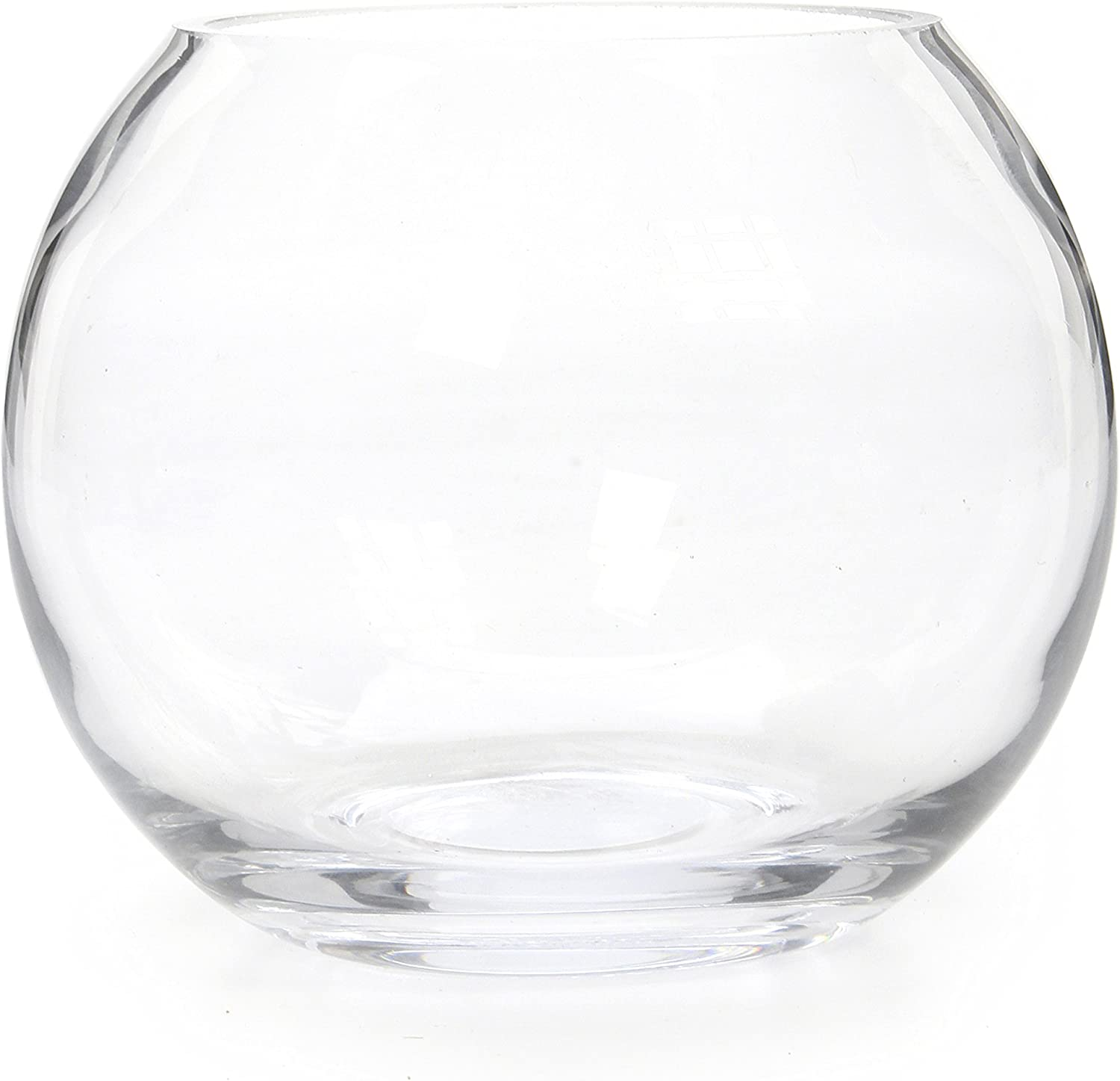 "Hosley's 6"" Diameter Glass Bowl. Ideal Gift for Wedding, Special Occasion, Floral Centerpiece Arrangements, Tealight Gardens, Spa & Aromatherapy Settings, DIY Craft Projects O3"