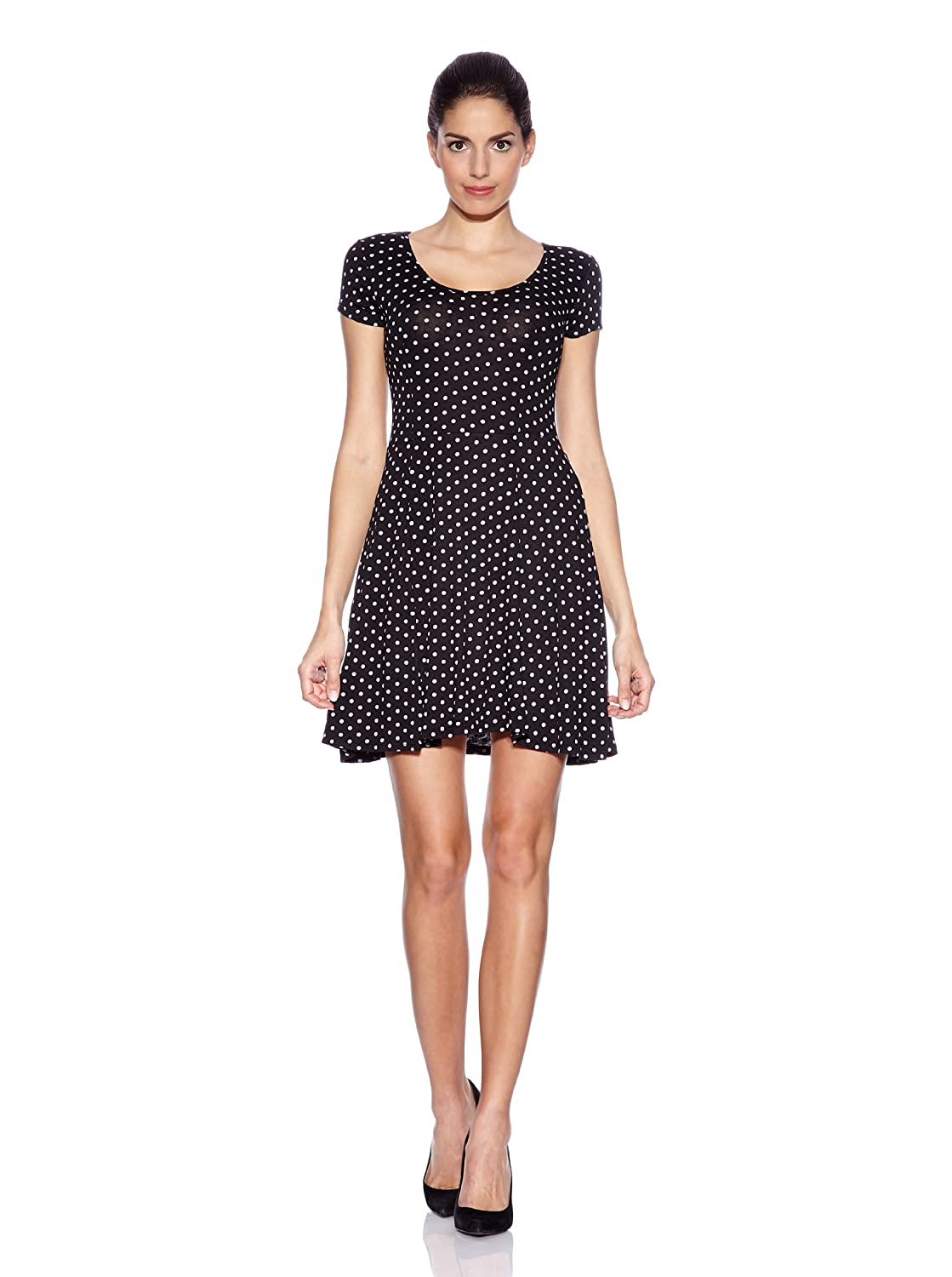 La Belle Parisienne Women's Polka Dot Dress Black black Small