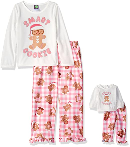 Dollie   Me Little Girls  Gingerbread Cookie Smart Cookie Sleepwear ... 6afcaf293
