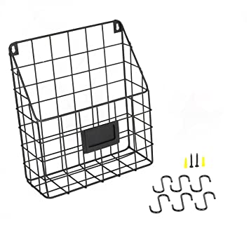 Amazon.com: Wall Mounted Multipurpose Mail Organizer Wire Basket ...