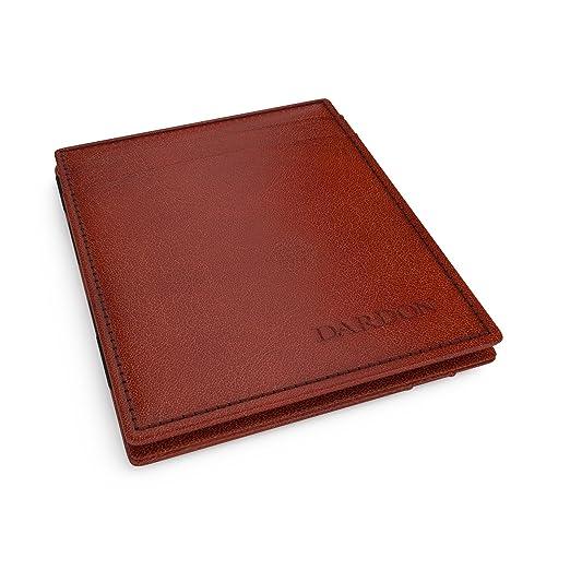 70 opinioni per DARDON® Magic Wallet, Portafoglio Di Design In Pelle Italiana, Marrone Chiaro