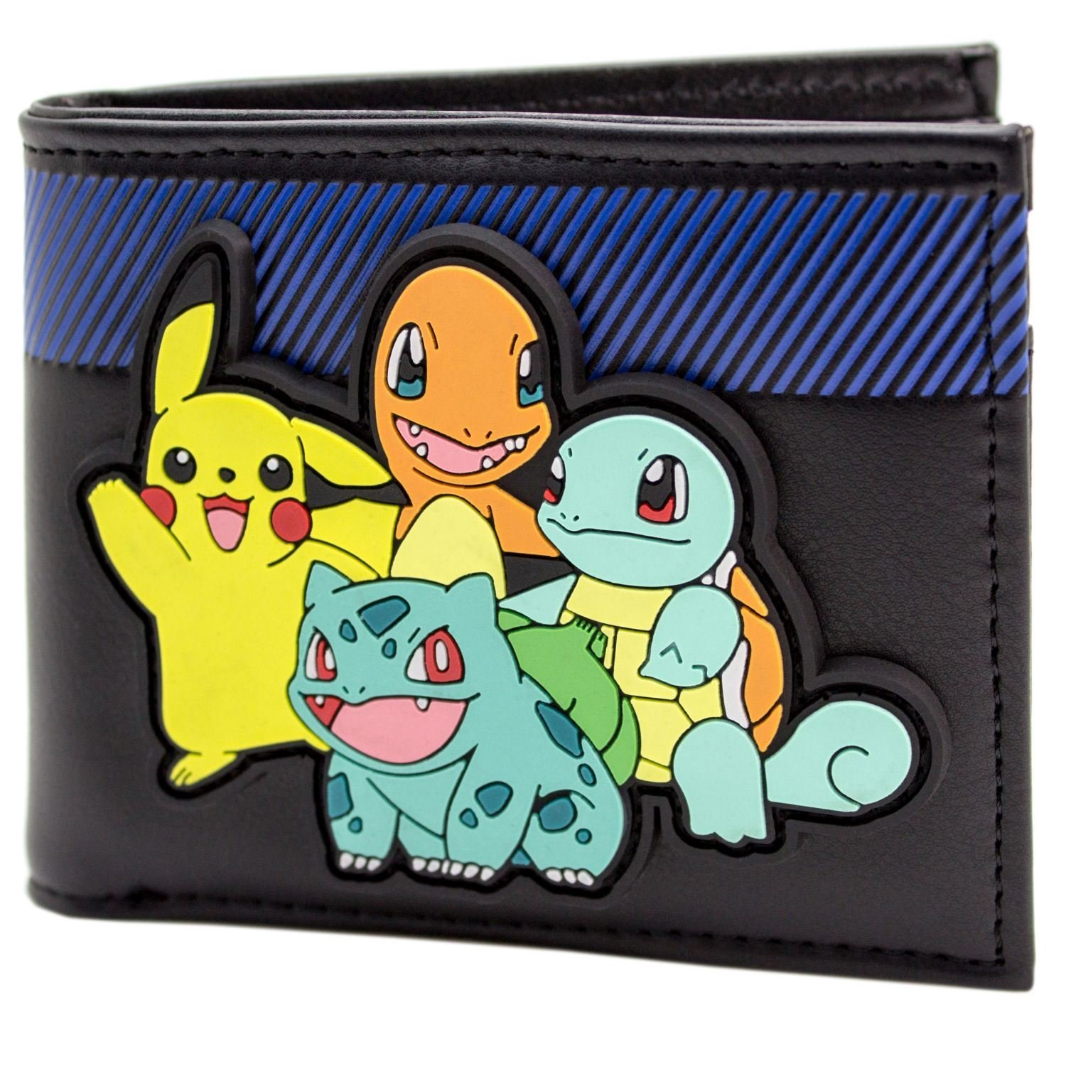 Cartera de Pokemon Arrancadores con Pikachu en goma Patch Negro: Amazon.es: Equipaje
