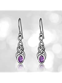 fae593d82 Sterling Silver Celtic Knot Linear Drop Earrings