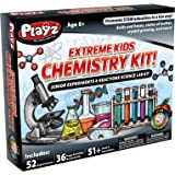 Playz STEM Extreme Kids Chemistry Junior Experiments & Reactions Science Lab Kit - 52+ Experiments, 36 Page Laboratory Guide,