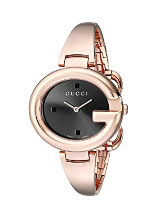 fd87c9c6474 Image Unavailable. Image not available for. Color  GUCCI Guccissima  Collection Analog Display Swiss Quartz Rose Gold Women s Watch(Model  YA134305)
