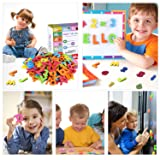 225Pcs Magnetic Letters and Numbers for Kids with