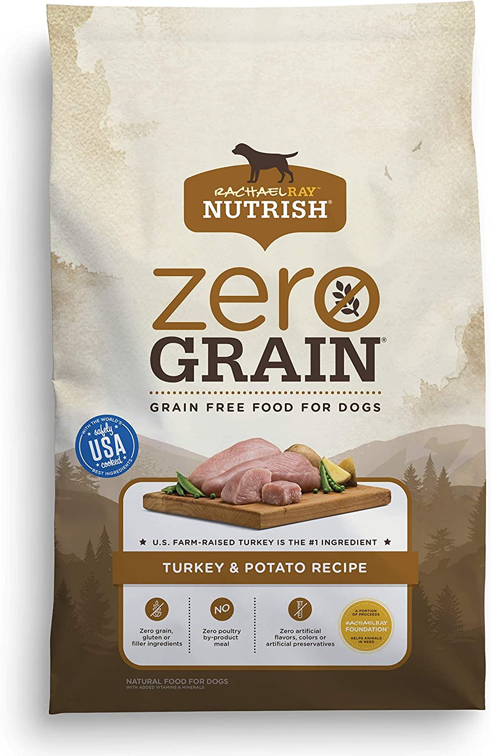 5. Rachael Ray Nutrish Zero Grain Grain-Free Dry Dog Food