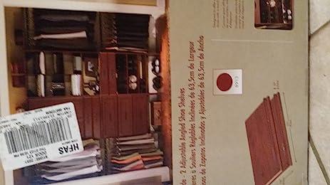 Charmant ClosetMaid Cherry Suite Symphony 25u0026quot; Wide   2 Adjustible Angled Shoe  Shelves
