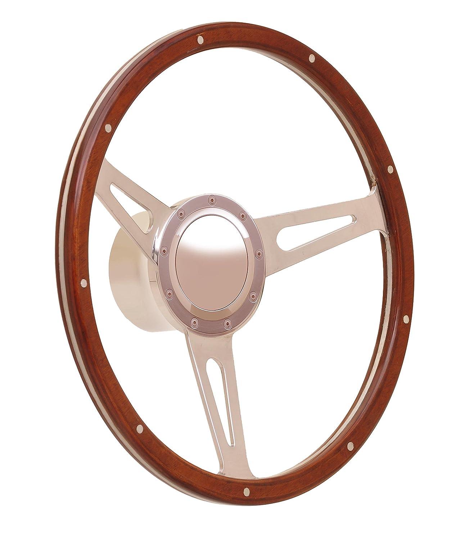 GT Performance 38-4247 Cobra Wood Steering Wheel