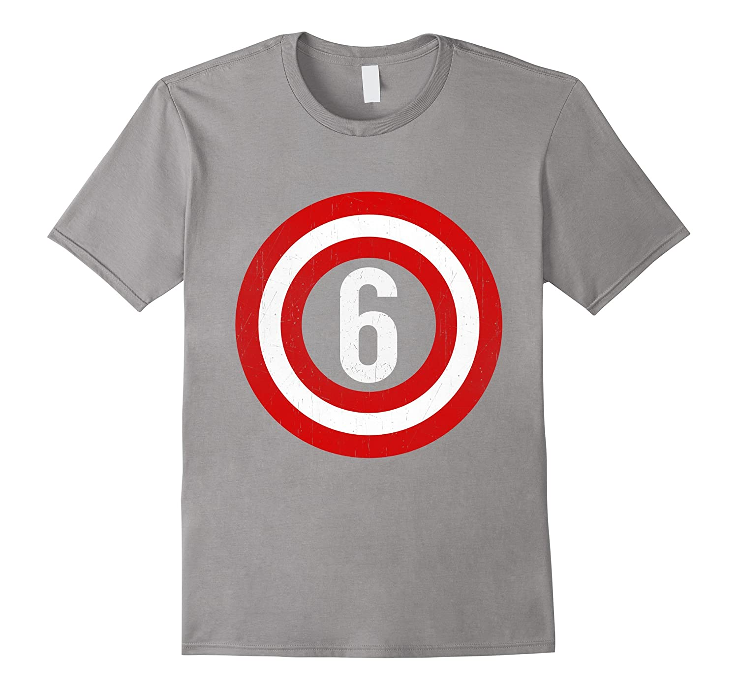 Captain 6th Birthday Tshirt Gift 6 Years Old Kids Boys Girls CL