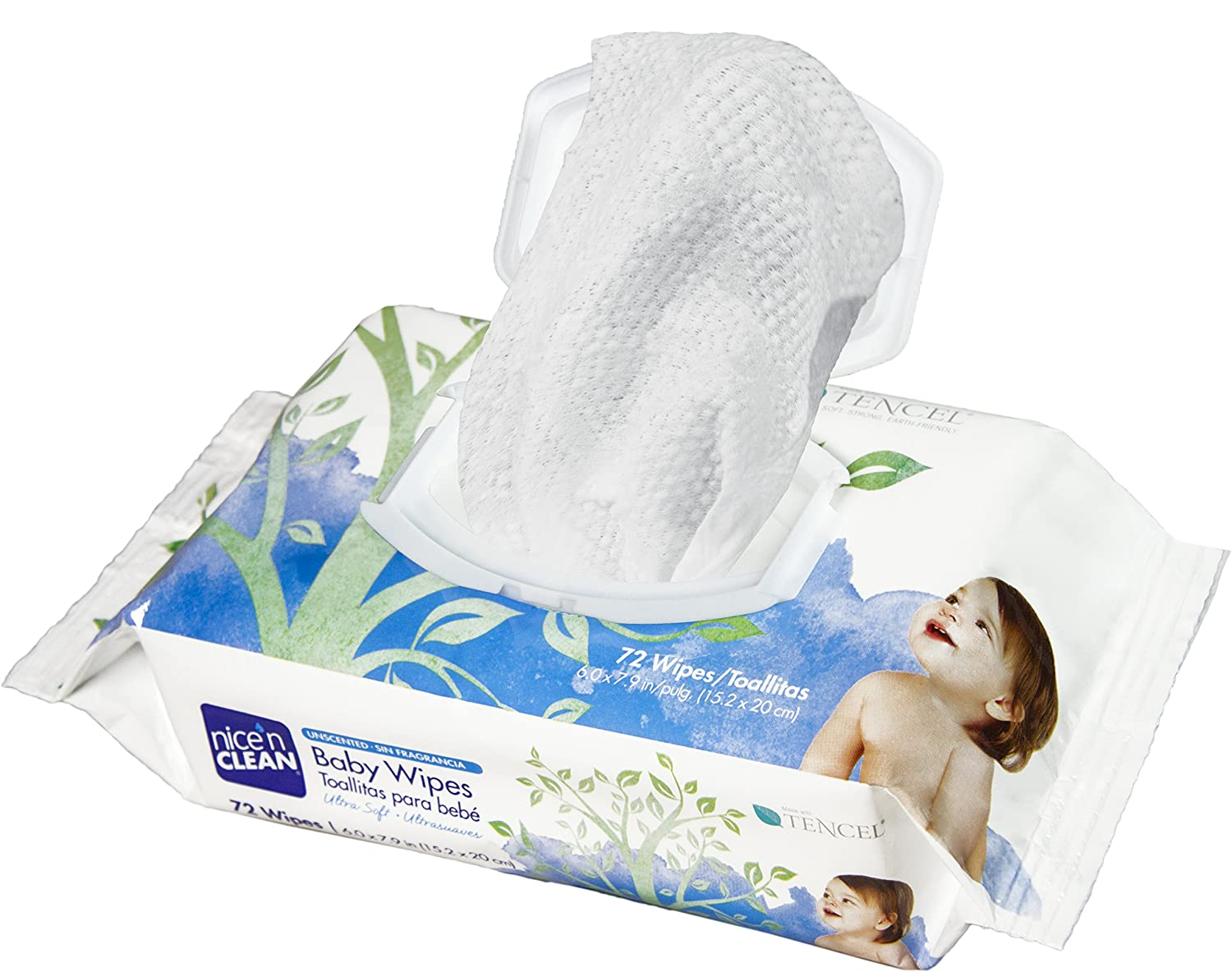 Amazon.com: Nice n Clean Unscented Baby Wipes, 72 Count: Health & Personal Care