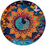 Bgraamiens Puzzle- Huaxia Creature-A Peacock in His Pride-1000 Pieces Jigsaw Puzzle Rich Color Challenge 1000 PCS Round Jigsa