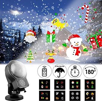 Albrillo Proyector de Nevadas LED Navidad - Luces de Proyección de ...